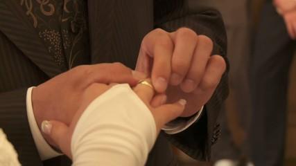 Ringe anstecken, Hochzeit