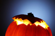 Illuminated Jack-O-Lantern pumpkin