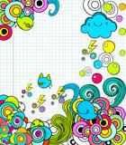 Doodle frame in notebook poster