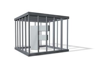 der buchstabe f in einem käfig