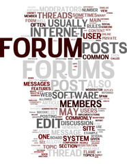 Forum web site related tags