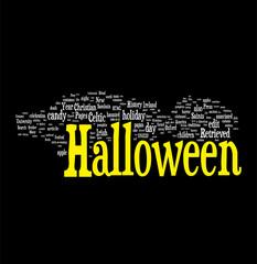 Halloween related words cloud