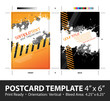 Grungy Postcard Template