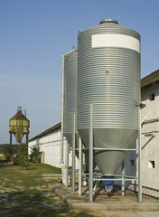 old and new silos
