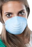 Girl infected with influenza A poster