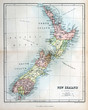 Old map of New Zealand, 1870