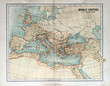 canvas print picture - Old map of the Roman Empire, 1870