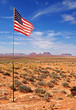 American flag in the desert