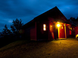 Norwegian Cabin at Night poster