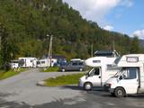 Campsite in the norwegian fjords poster