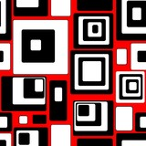 Seamless retro pattern with rectangles poster
