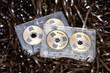 spulen audio cassetten bandsalat