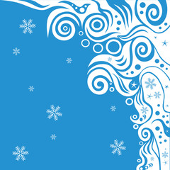 abstract blue waves and snow background vector series