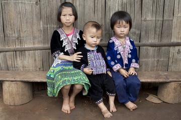 Kinder von Asien, Volksgruppe Meo, Hmong