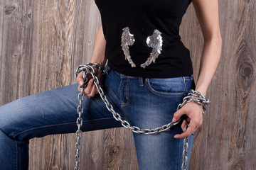 girl legs and chain 1
