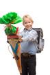 Boy having first schoolday - Erster Schultag mit Schultüte