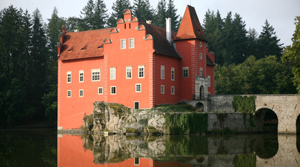The red water chateau in the the Czech republic - Cervena Lhota