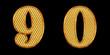 ゴールドの数字 9 0