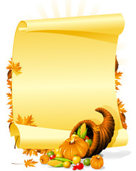 Blank thanksgiving banquet invitation