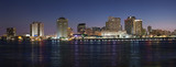 Fototapety Panorama of New Orleans after sunset from Mississippi River