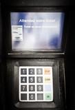 clavier paiement carte bleu digital impression ticket automate poster