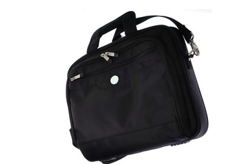 Computer bag on white backgorund