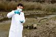 Leinwandbild Motiv environmental pollution - research