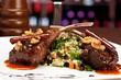 Lamb chops in restaurant