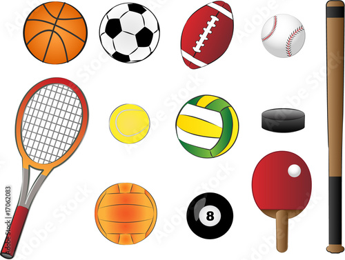 Clipart Sports Equipment. sports equipment vector