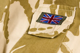 british union jack / flag on desert camouflage