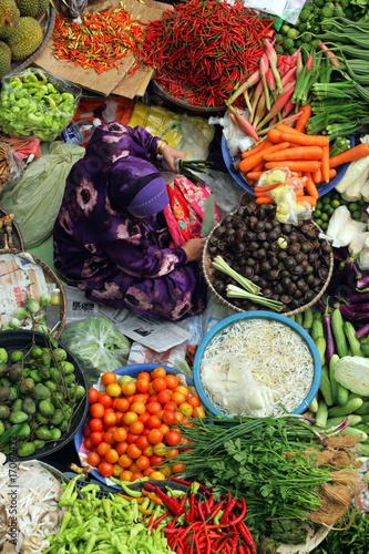 Foto op Plexiglas Indonesië Pasar Siti Khadijah, Kelantan, Malaysia..