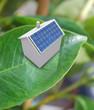 Maison solaire sur feuille