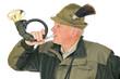 Jäger mit Jagdhorn