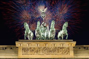 Feuerwerk am Brandenburger Tor, Berlin