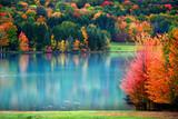 Fototapety Scenic autumn landscape in Pennsylvania