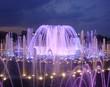 Leinwanddruck Bild - Night fountain