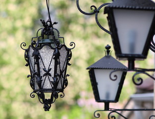 lamp and green background