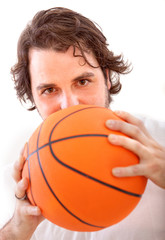 Man with a basketball