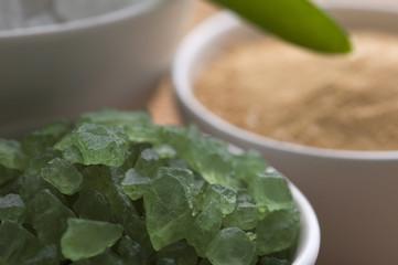 bath salt and aloe vera