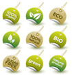 Vector green organic labels