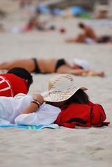 Siesta en la playa