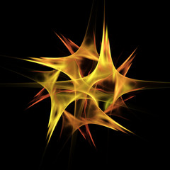 Abstract fractal fire star background