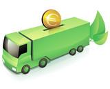 Investissement dans le transport vert (reflet) poster