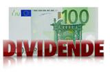 dividende banknote geldschein 100 euro poster