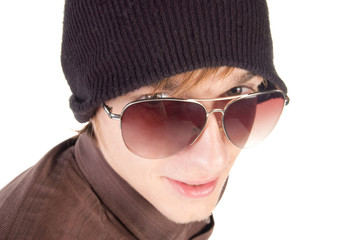 young guy in sunglasses .