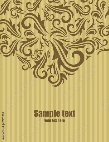 Abstract fantasy composition background with decoration.