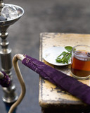 traditionally arabic hookah and mint tea