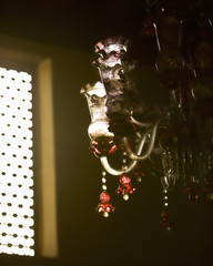 decorative arabic glass light fitting