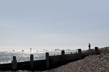 Angler sea fishing