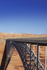 Bridge spanning canyon, USA